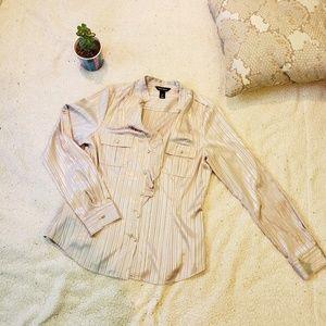 White House black market button down blouse